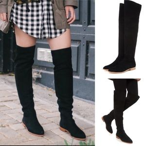 LOEFFLER RANDALL JOS over the knee boots suede 7.5